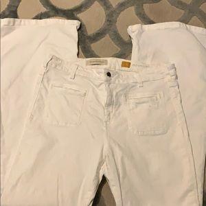 Pilcro and letterpress white pants